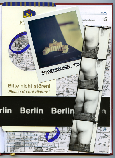 Berlin - Collage of mixed media for TicKl Magazine